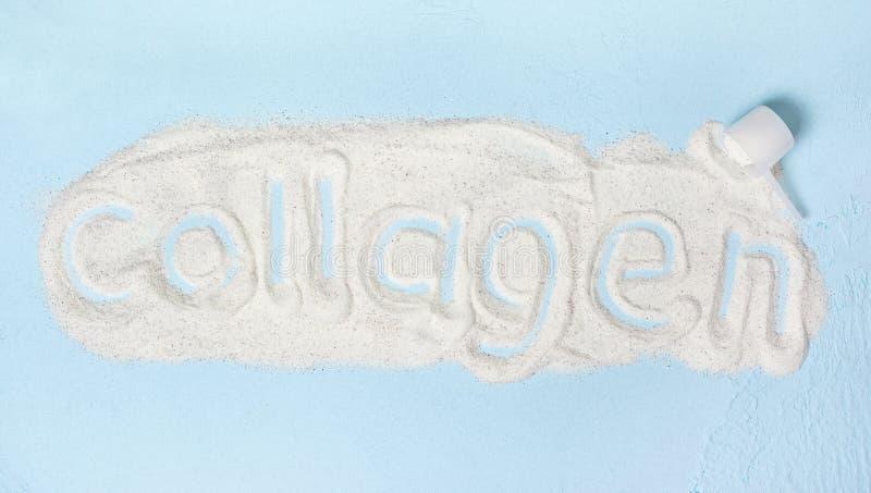 Polvo del colágeno foto de archivo libre de regalías