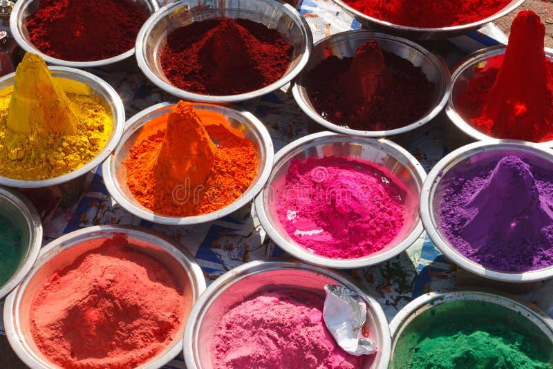 Polvo del kum de Holi Kum, la India imagen de archivo
