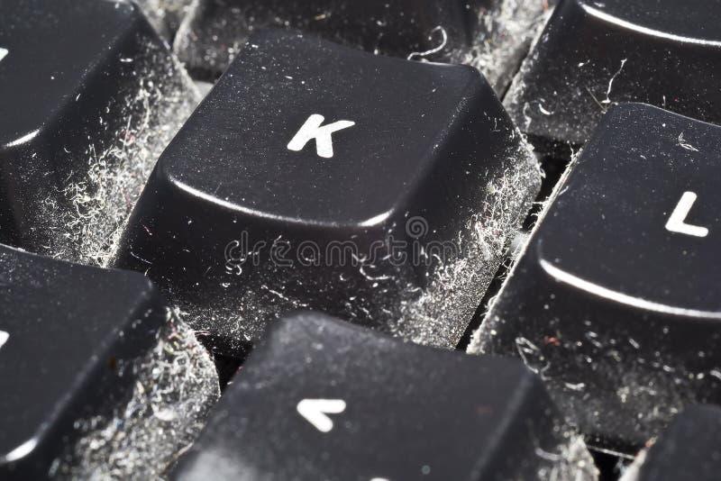 Polvo del teclado imagen de archivo libre de regalías