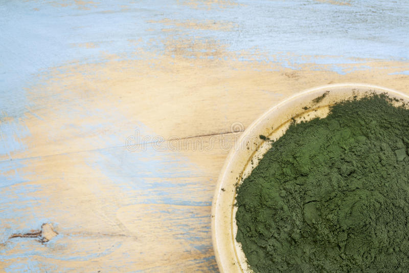Polvo hawaiano del spirulina imagen de archivo libre de regalías