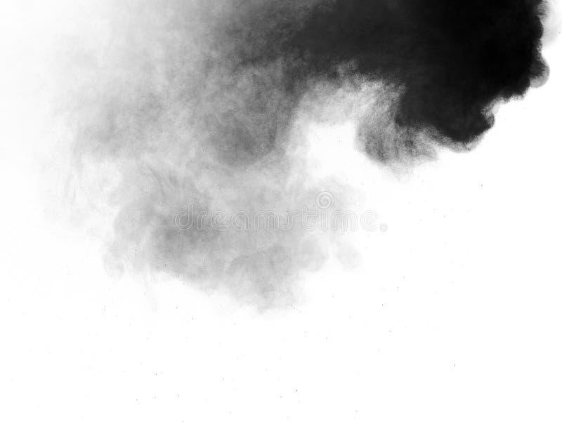 Polvo oscuro del humo de la harina foto de archivo