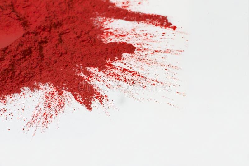 Polvo rojo imagenes de archivo