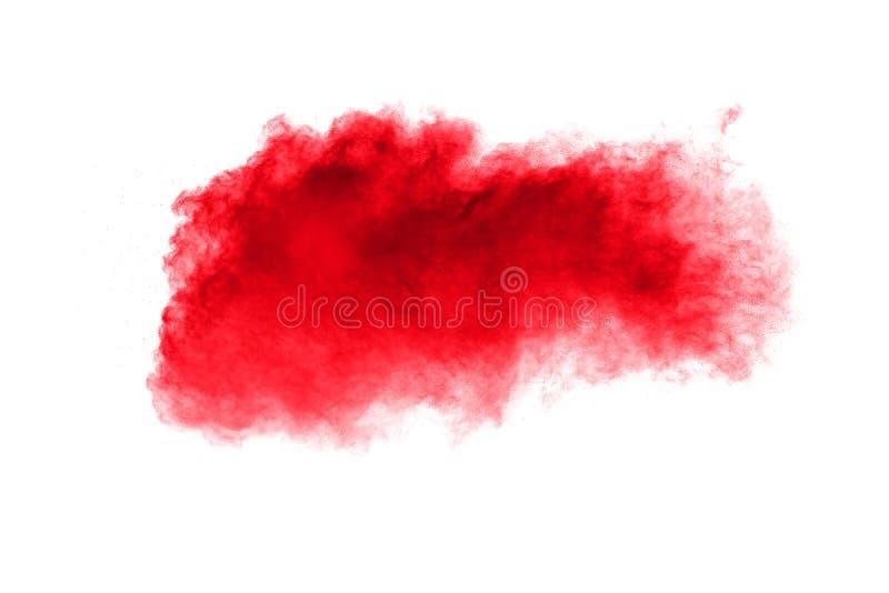 Polvo rojo abstracto salpicado en el fondo blanco fotos de archivo libres de regalías