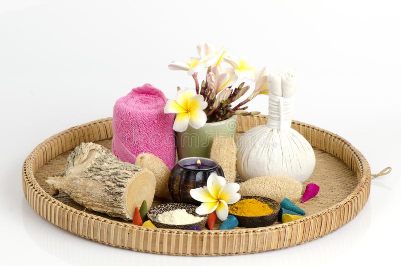 Polvo y cúrcuma de Thanakha para la piel con acné foto de archivo