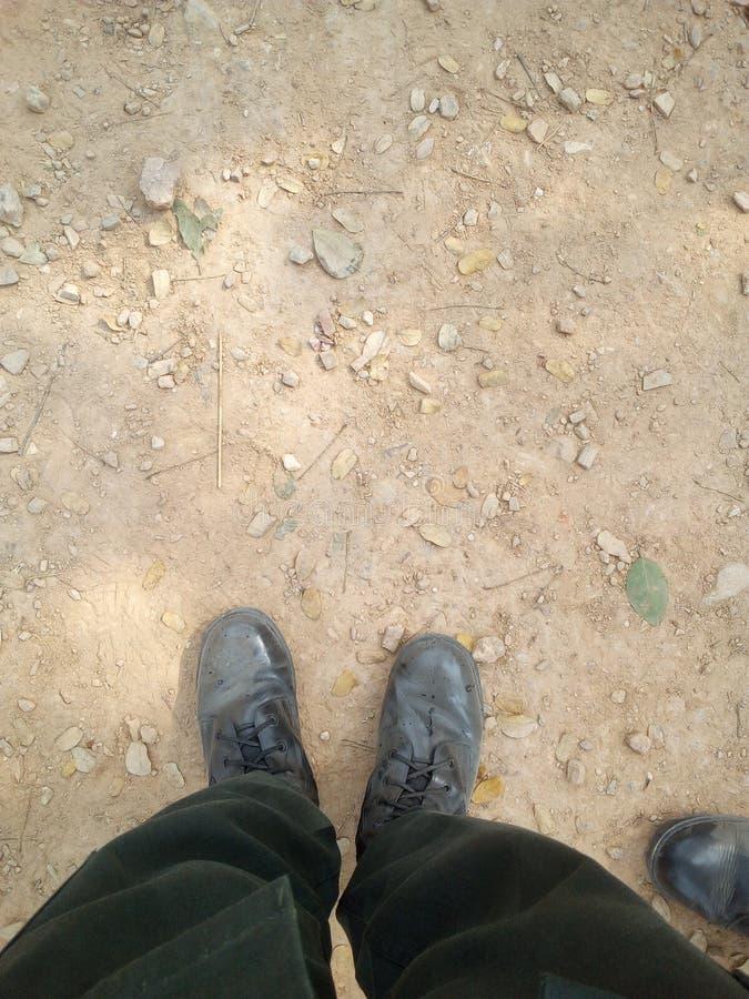 Polvo y suciedad en zapato imagenes de archivo