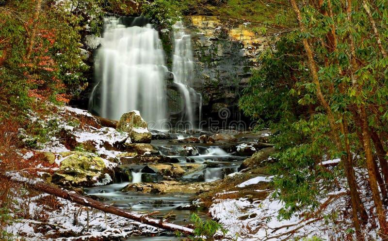 Polvoreda de la primavera de la nieve fotografía de archivo