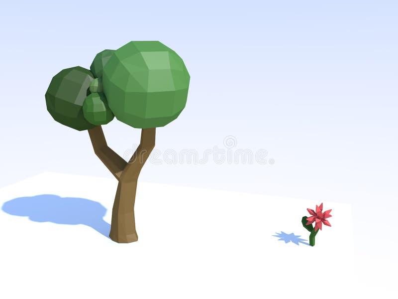 Poly arbre photographie stock