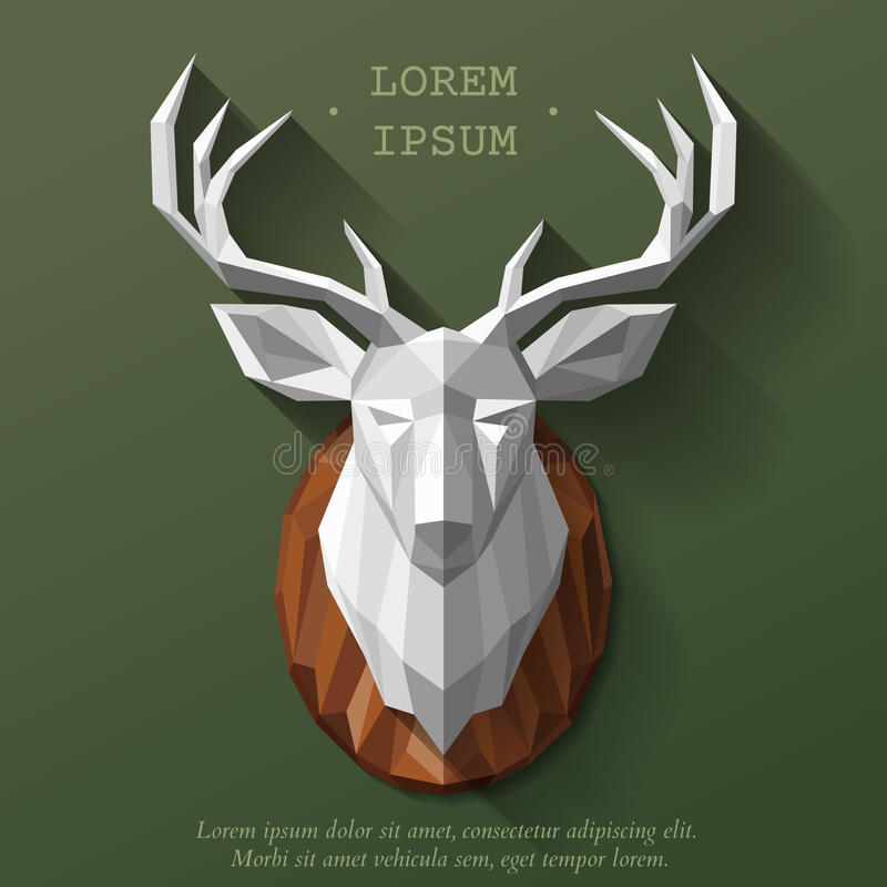 Poly deer head royalty free illustration