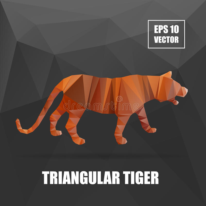 Poly design Tiger Illustration tigervektor royaltyfri illustrationer