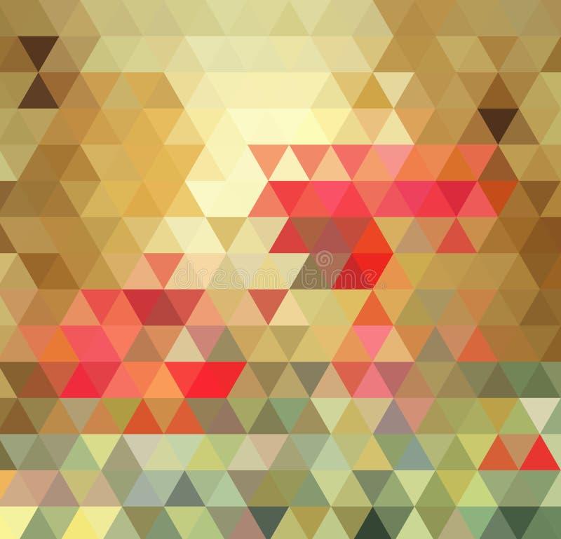 poly låg poly stil Mång--färg för geometriskt triangulärt bottenläge Kvinnligt är ett foto som realistiska 3d modellerar vektor illustrationer