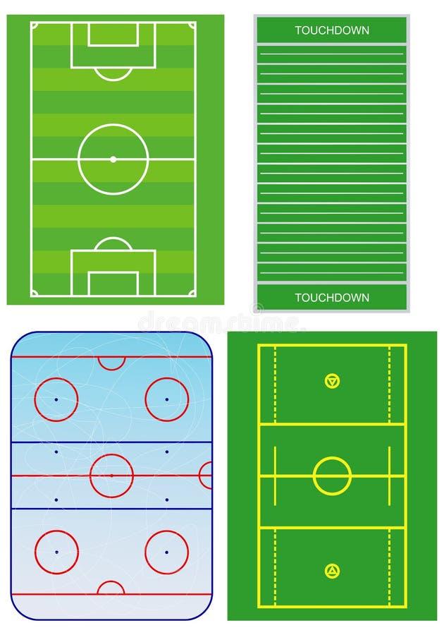 poly planu sport ilustracja wektor