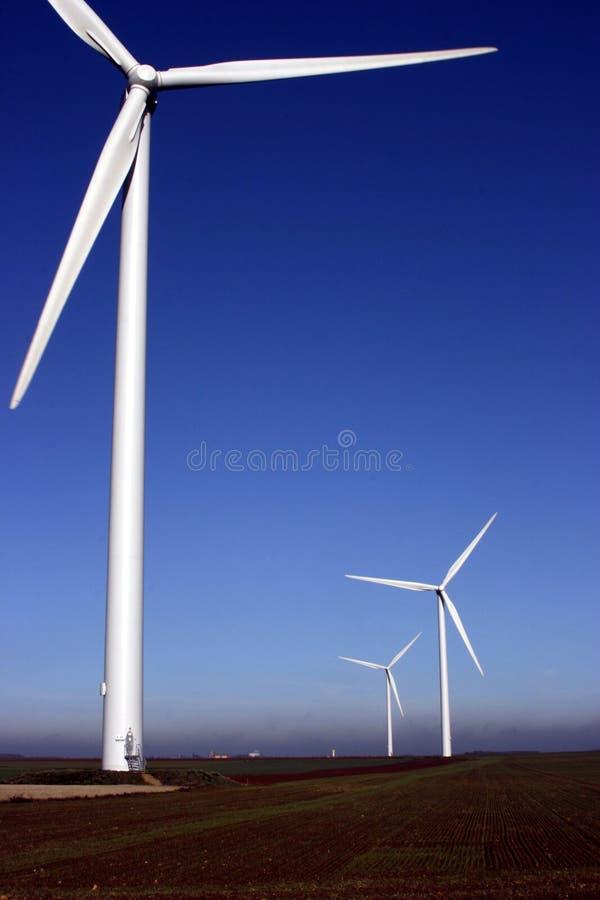 poly turbina wiatr obraz stock