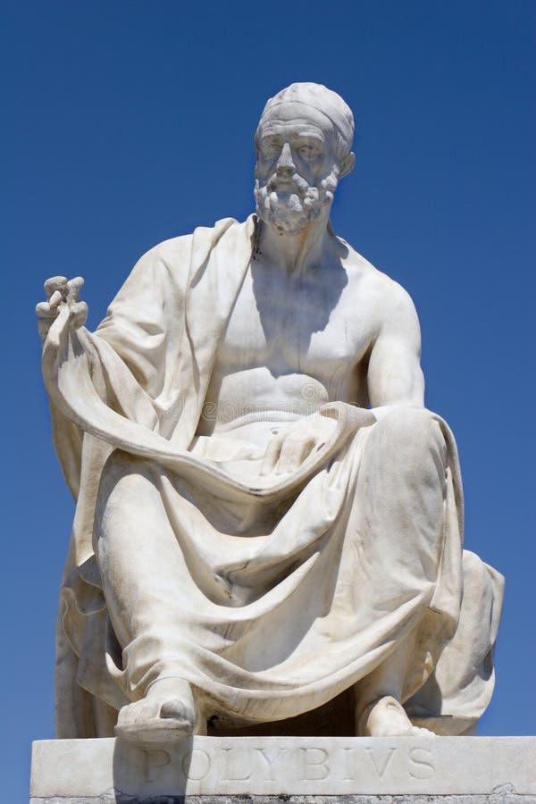 Polybius - estátua de Viena fotos de stock