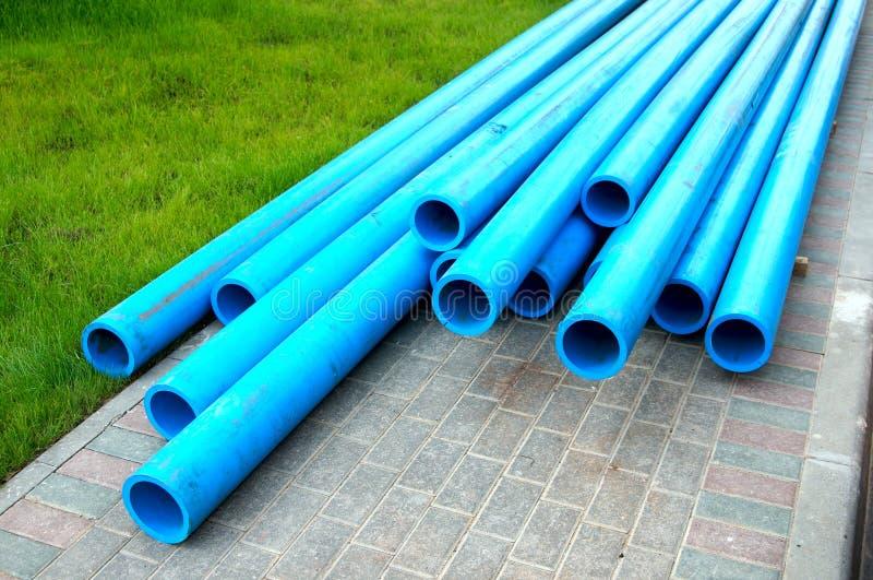 Polyetylenvattenrør arkivfoton