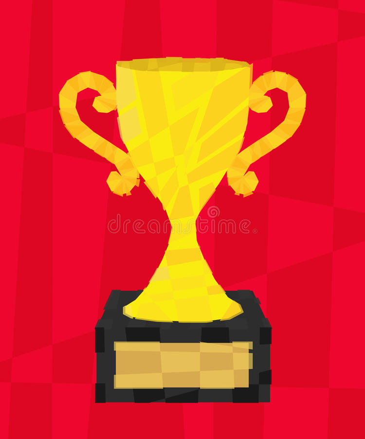 Download Polygon cup stock vector. Illustration of podium, object - 32606095