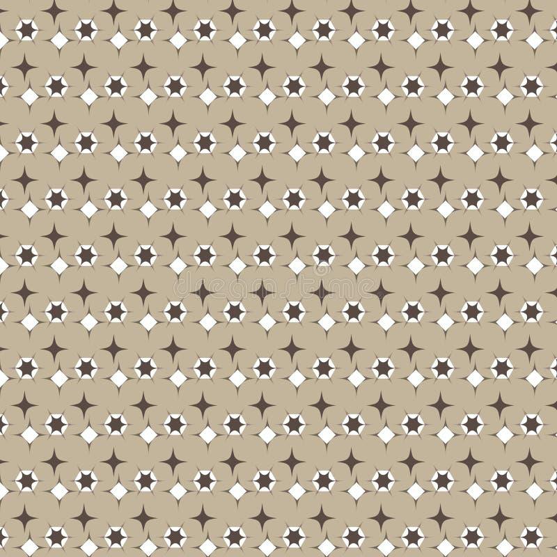 Polygon-Diamantform Browns weiße mit spitzem Endenmusterbraun lizenzfreie abbildung