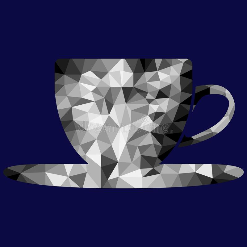 Polygon cup and saucer image royalty free stock photo