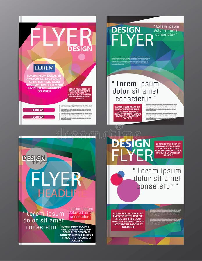 Polygon Modern Brochure Layout design template. Flyer Leaflet cov vector illustration