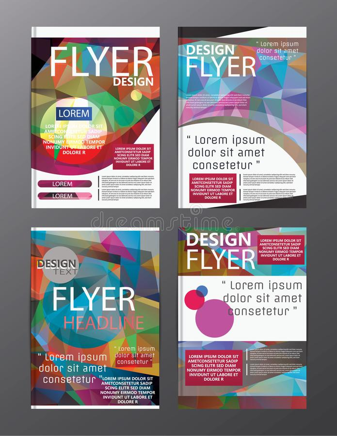 download polygon modern brochure layout design templateflyer leaflet cov stock vector illustration of