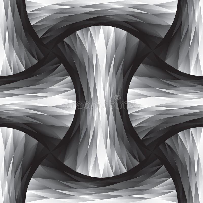 Polygon och geometrisk sömlös modell för kurva vektor illustrationer