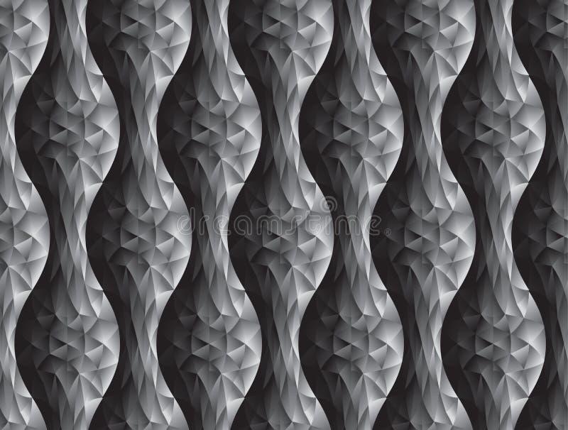 Polygon och geometrisk sömlös modell för kurva stock illustrationer