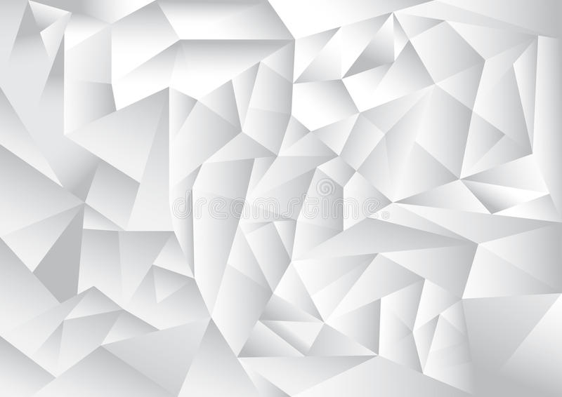 Polygon pattern abstract background, white and grey theme vector illustration