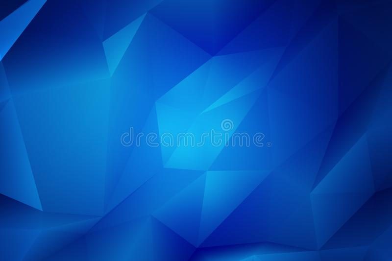 Blue Polygon Shapes || Low poly Background royalty free stock image