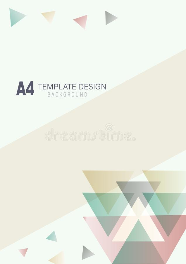 Polygon template design with earth tone color stock illustration