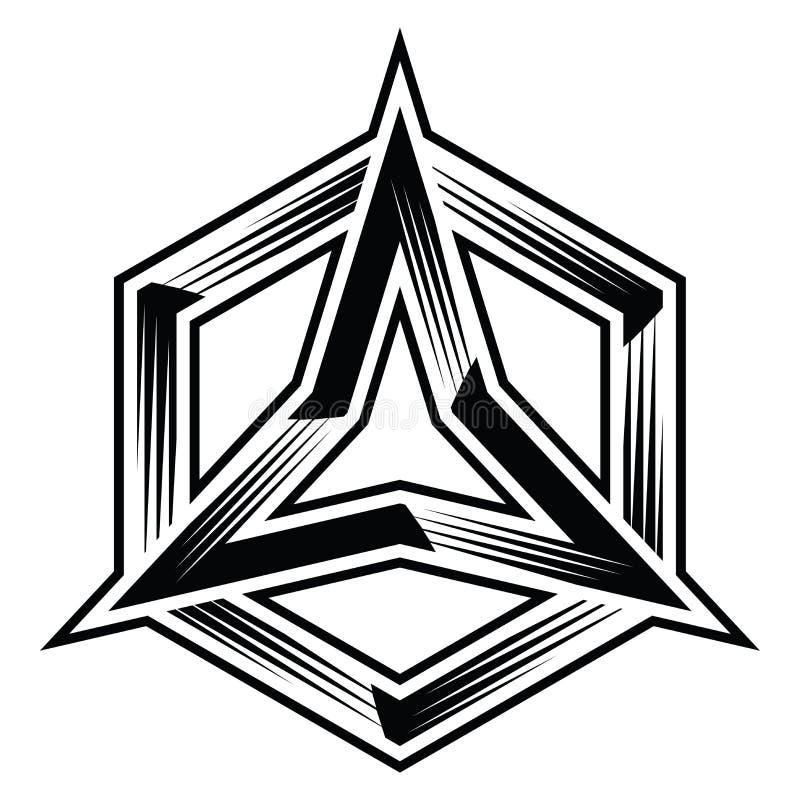 Trinity Three Points Star And Circle Illustration Vector Stock
