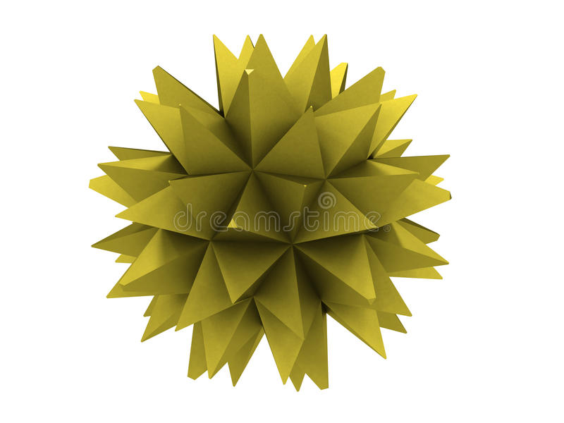 Polygon Of Yellow Metal Royalty Free Stock Photos