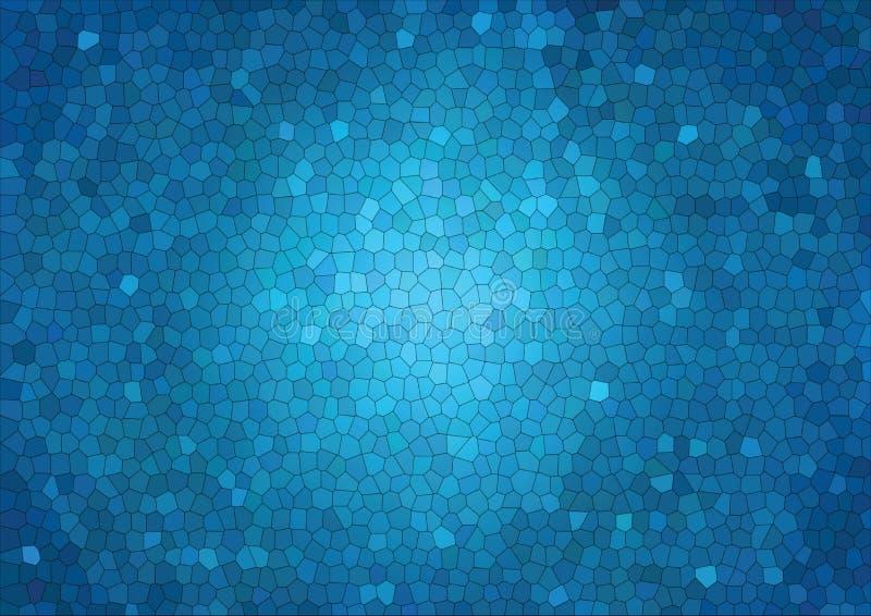 Polygon-Zusammenfassungsmosaik-Vektorhintergrund, grafisches Hintergrundmosaik der dreieckigen niedrigen Polyblauen Steigungsillu stock abbildung