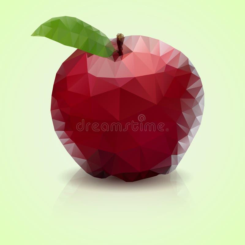 Polygonal äpple arkivbilder