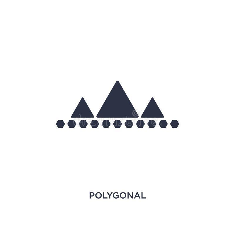 polygonal εικονίδιο βουνών στο άσπρο υπόβαθρο Απλή απεικόνιση στοιχείων από την έννοια γεωμετρίας ελεύθερη απεικόνιση δικαιώματος