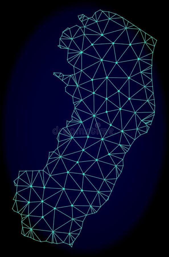 Polygonal διανυσματικός αφηρημένος χάρτης πλέγματος σφαγίων του κράτους Espirito Santo ελεύθερη απεικόνιση δικαιώματος