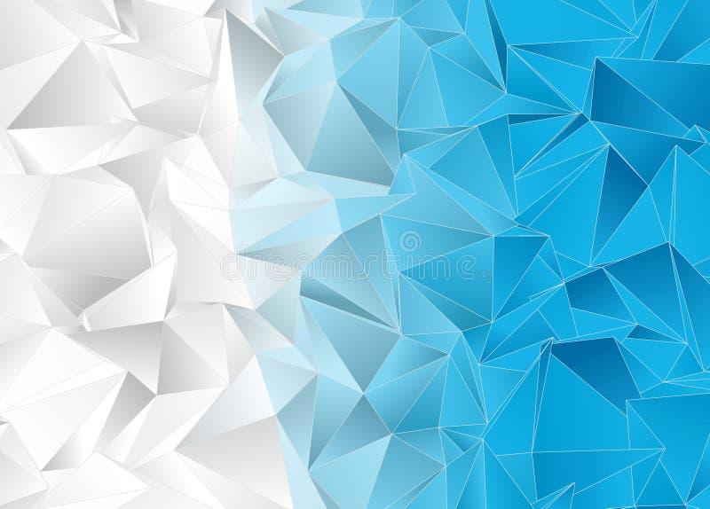 Polygonal ανασκόπηση Αφηρημένη triangulated σύσταση διανυσματική απεικόνιση