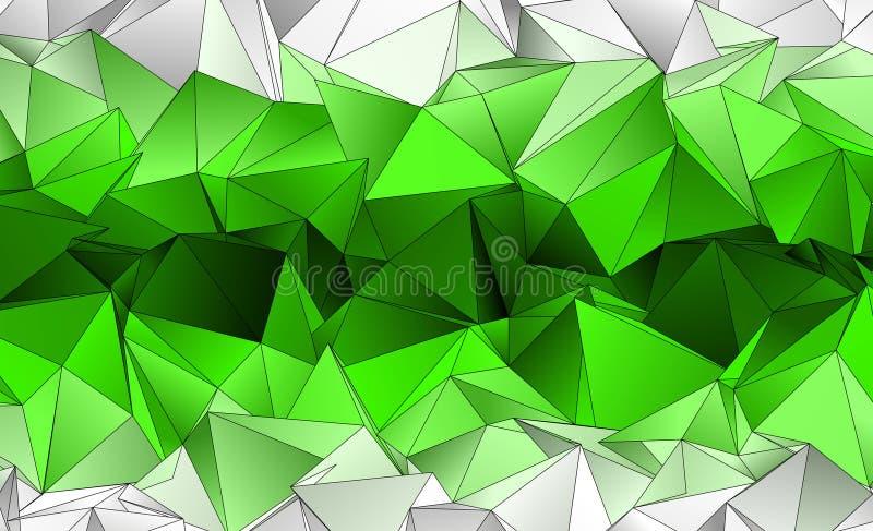 Polygonal ανασκόπηση Αφηρημένη triangulated σύσταση απεικόνιση αποθεμάτων