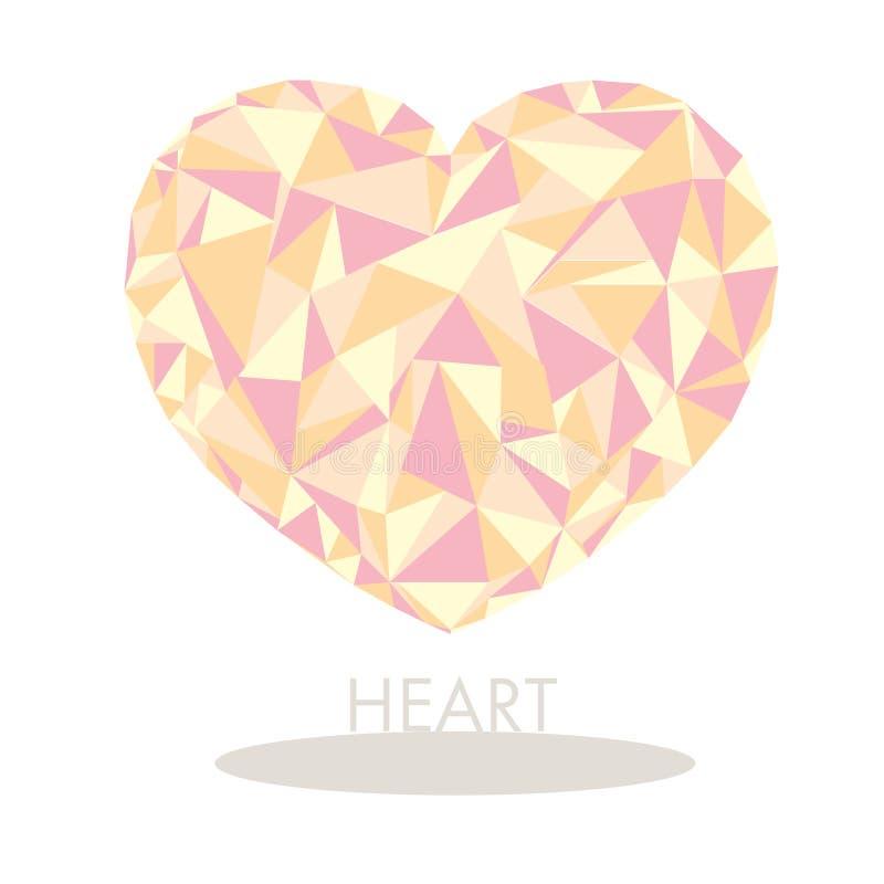 Polygonal γλυκό καρδιών διανυσματική απεικόνιση