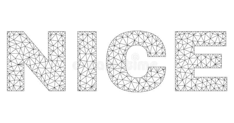 Polygonal ετικέττα κειμένων της ΝΙΚΑΙΑΣ σφαγίων ελεύθερη απεικόνιση δικαιώματος