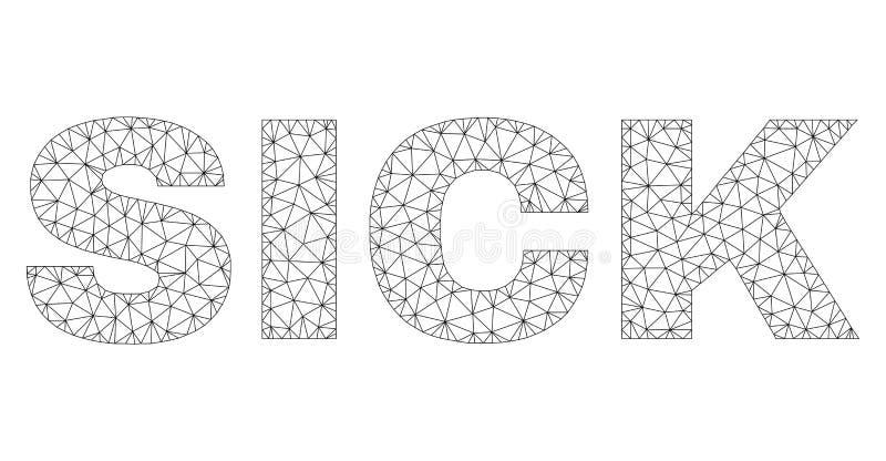 Polygonal καλωδίων ετικέτα κειμένων πλαισίων ΑΡΡΩΣΤΗ διανυσματική απεικόνιση
