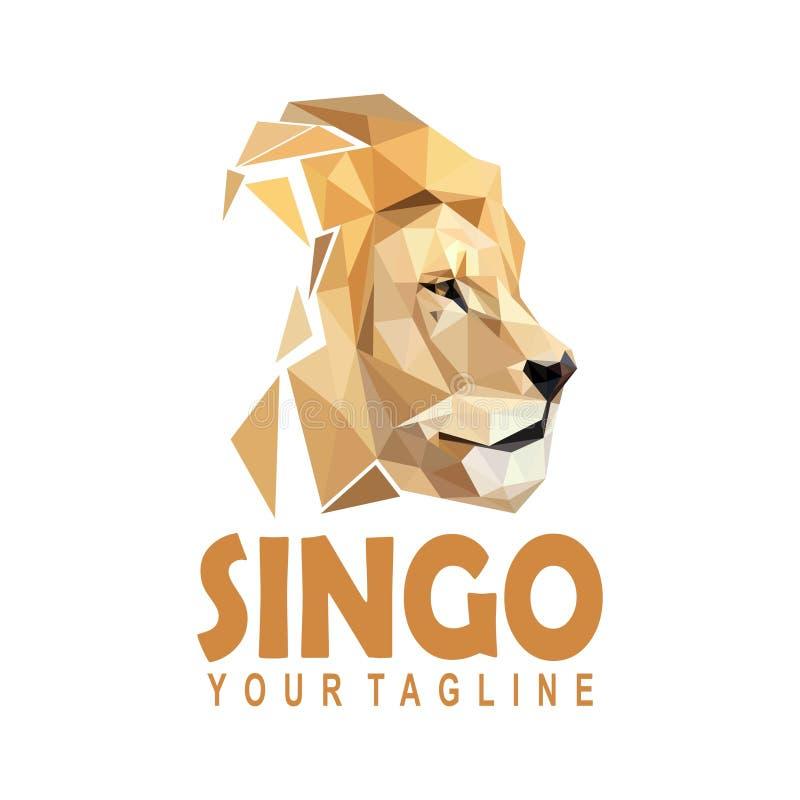 Polygonal λογότυπο λιονταριών ελεύθερη απεικόνιση δικαιώματος