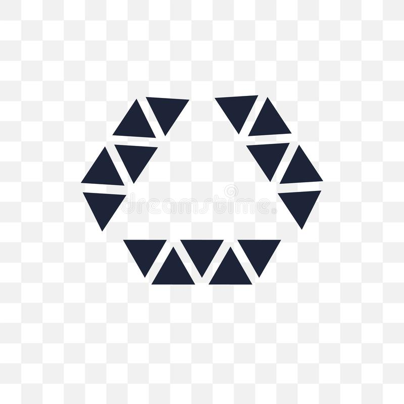 Polygonal μορφή διαμαντιών του μικρού διαφανούς εικονιδίου τριγώνων POL ελεύθερη απεικόνιση δικαιώματος