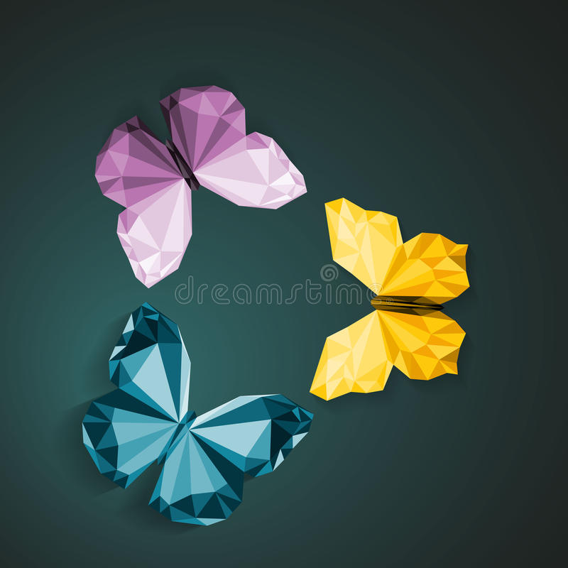 Polygonal πεταλούδες απεικόνιση αποθεμάτων