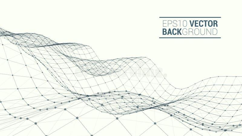 Polygonal τοπίο Wireframe ελεύθερη απεικόνιση δικαιώματος
