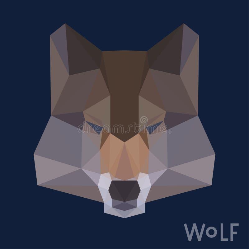 Polygonal υπόβαθρο λύκων ελεύθερη απεικόνιση δικαιώματος
