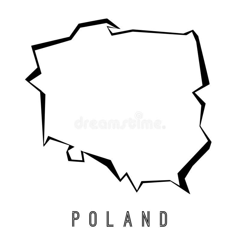 Polygonal χάρτης της Πολωνίας ελεύθερη απεικόνιση δικαιώματος