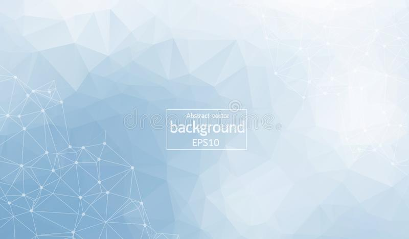 Polygonal Abstract background. Low poly, molecule and communication with connected dots and lines. Vector Illustration. Polygonal Abstract background. Low poly vector illustration
