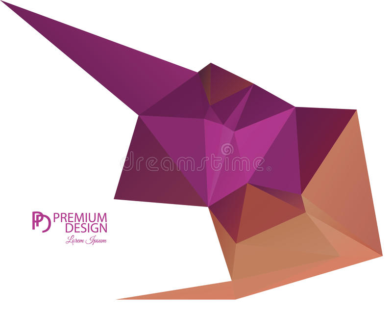 Polygonal Abstract Background and PD Logo. Polygonal Abstract Background Design and PD Logo, EPS 10 supported royalty free illustration