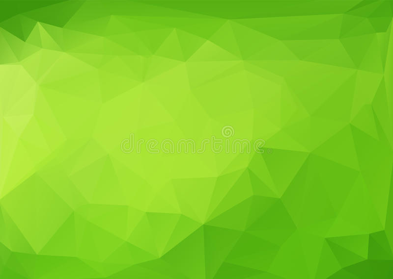 Polygonal Abstract With Green Gradient Across Background