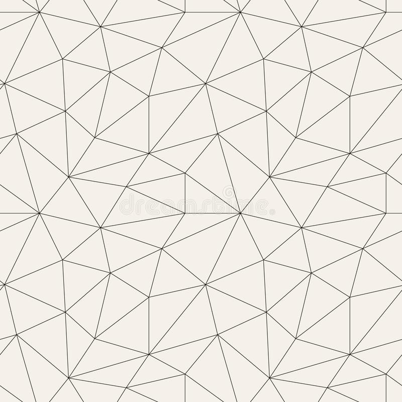 Polygonal abstract seamless pattern in gray colors vector illustration