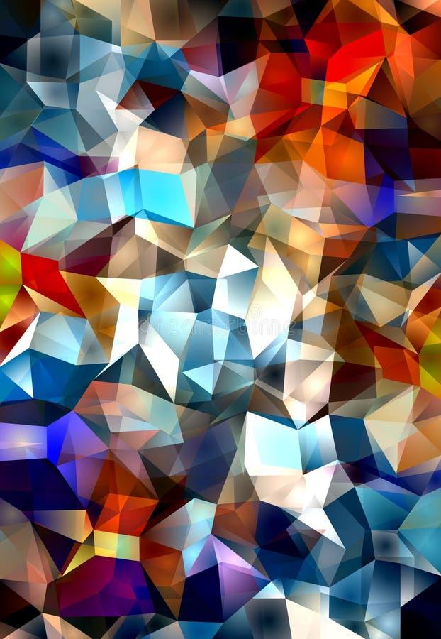 Polygonal Abstract royalty free illustration